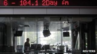 The 2Day FM radio station offices in Sydney