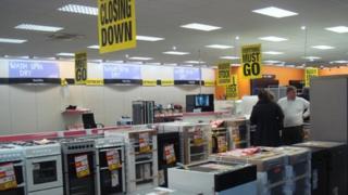 Comet store in Cardiff Valegate