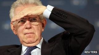 Italian Prime Minister Mario Monti (file image)