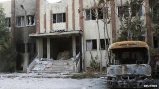 The Damascus suburb of Douma 21, November 2012