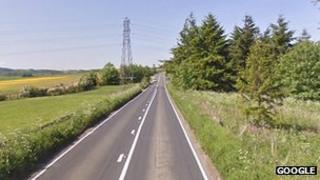 The B925 Kirkcaldy to Auchtertool road in Fife