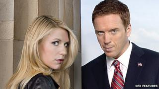 Claire Danes and Damian Lewis in Homeland