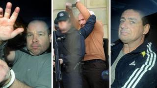 Damien Harkin (l), Jason Ceulman (centre), Neil Hegarty (r)