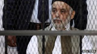 Al-Baghdadi al-Mahmoudi on trial in Tripoli, 10 December 2012