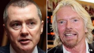 Willie Walsh and Sir Richard Branson