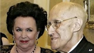Vishnevskaya and Mstislav Rostropovich