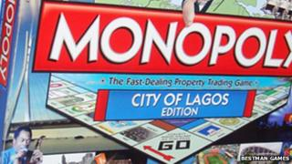 The cover of the the Monopoly game - City of Lagos edition