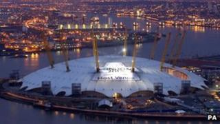 Millenium Dome before London 2012