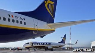 Ryanair Boeing B737 plane