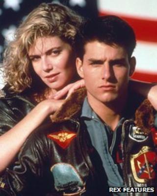 Tom Cruise and Kelly McGillis