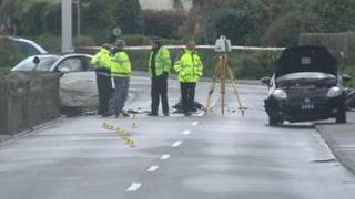 Scene of crash on Forest Road on 5 December