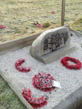 The memorial was previously vandalised in July 2011
