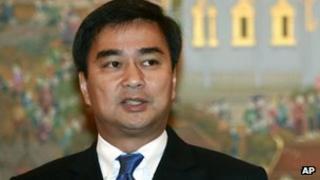 Abhisit Vejjajiva, in file image from 19 July 2011