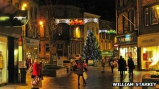 Stirling Town Centre at Christmas