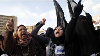 Muslim Brotherhood members demonstrate in Cairo. Photo: 11 December 2012