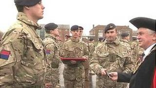 Medals ceremony in Wiltshire