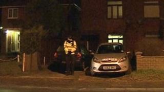 Detectives sealed the property on Middletons Lane