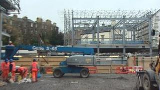 New Haymarket Station being built