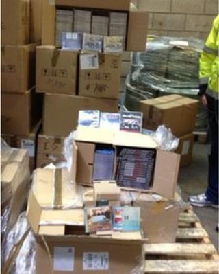 Haul of seized CDs
