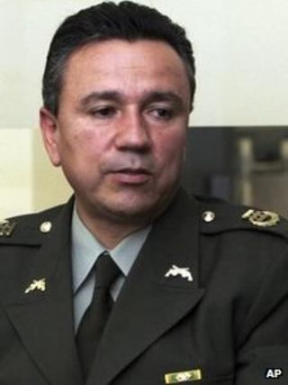 Gen Mauricio Santoyo in a November 2007 file photo