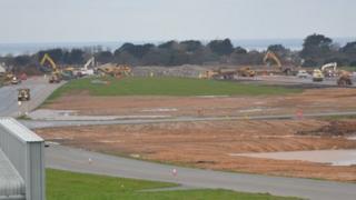 Guernsey Airport works