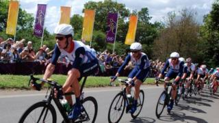 Bradley Wiggins in Surrey