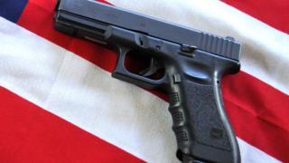 Gun, US flag