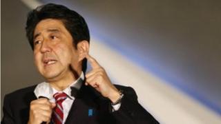 Shinzo Abe on the campaign trail last week