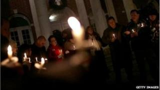 Residents have been holding candlelit vigils in Newtown