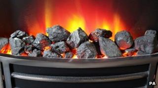 A domestic gas fire