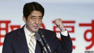 Former Japanese Prime Minister Shinzo Abe, 26 September 2012