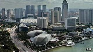 Singapore financial district - file pic