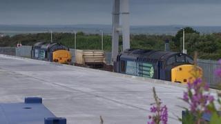 Locomotives for nuclear rail shipments