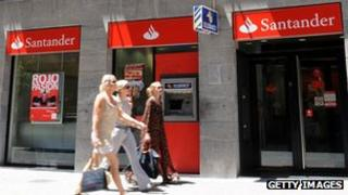Branch of Santander in Palma de Mallorca, Spain