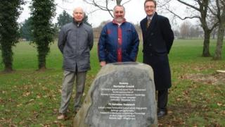 From left: Mel Plenty and Don Taylor from Rreel Action Group with Councillor Keith Jones.