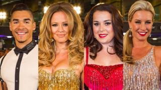 The Strictly Come Dancing finalists; Louis Smith, Kimberley Walsh, Dani Harmer and Denise Van Outen