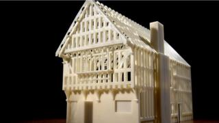 The reconstructed Blue Boar Inn as a physical model