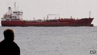 Tanker off Limassol, Cyprus - file pic