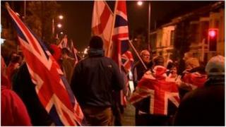 Protest at Templemore Avenue, east Belfast