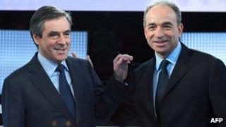 Jean-Francois Cope (R) and former Prime Minister Francois Fillon