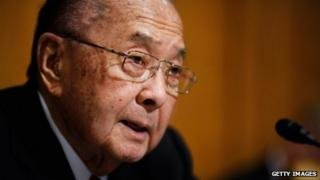 Senator Daniel Inouye delivers an opening statement during a hearing 18 May 2011