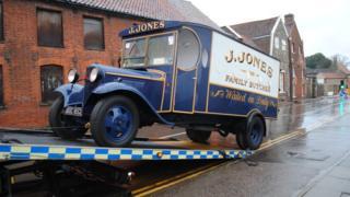 Jones butcher's van