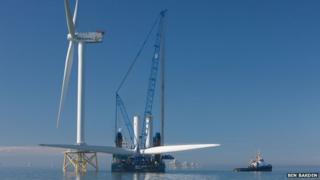 Ormonde wind farm, Irish Sea