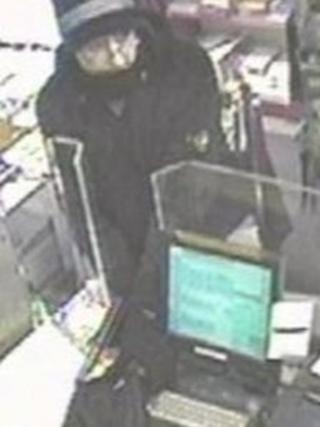 Highcliffe armed robbery CCTV
