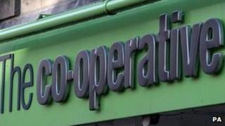 The Co-operative sign