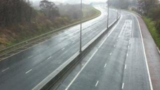 The M2 motorway is closed in both directions following the incident