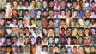 The 96 victims of the Hillsborough disaster