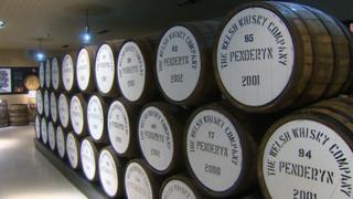 Penderyn whisky barrels