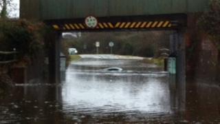 Submerged Porsche
