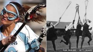 Lacrosse matches in 2012 and 1923